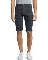 Xray Jeans - Camouflage Moto Denim Shorts - Lyst