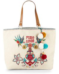 VIDA Tote Bag - guitars in white by VIDA EN6S7h4vqj