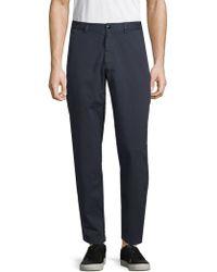 Dries Van Noten - Side Tab Cotton Skinny Trousers - Lyst