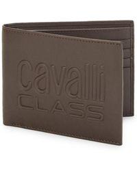 Class Roberto Cavalli - Leather Bi-fold Wallet - Lyst