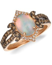 Le Vian - 14k Strawberry Gold Neopolitan Opal Vanilla Diamonds & Chocolate Diamonds Chocolatier Ring - Lyst