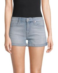 7 For All Mankind - Whiskered Denim Shorts - Lyst