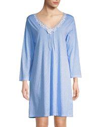 Carole Hochman - Lace-trimmed V-neck Sleepshirt - Lyst