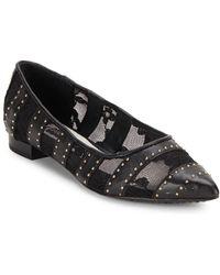 Alice + Olivia - Karen Leather Embellished Flats - Lyst