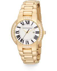 Saks Fifth Avenue - Goldtone Crystal Bezel Watch - Lyst