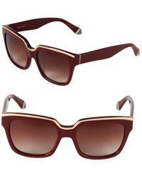 Zac Posen - 56mm Square Sunglasses - Lyst