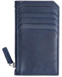 Royce - Zip Leather Credit Card Wallet - Lyst