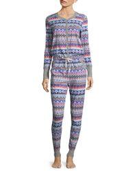 Jane And Bleecker - Printed Long Sleeve Pyjamas - Lyst