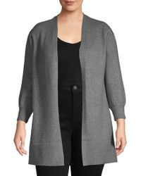 Vince Camuto - Plus Ribbed Open-front Cardigan - Lyst