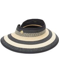 Vince Camuto - Striped Visor Hat - Lyst