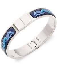 Hermès - Vintage Sterling Silver Loquet Bracelet - Lyst