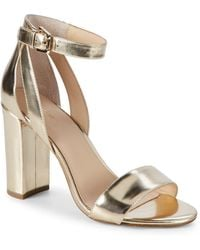 Botkier - Gianna Metallic Leather Heeled Sandals - Lyst
