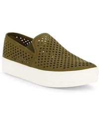 7c76a47f00e Lyst - Steve Madden Snake Print Slip-on Sneakers in Natural