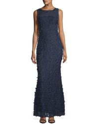 Karl Lagerfeld - Embellished Floral Lace Gown - Lyst