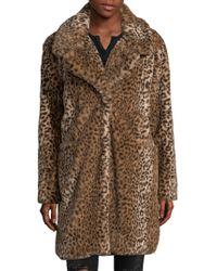 C&C California - Faux-fur Cheetah Coat - Lyst