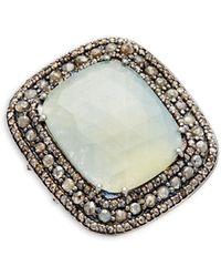 Bavna - Sterling Silver, Multicolored Sapphire & Diamond Statement Ring - Lyst