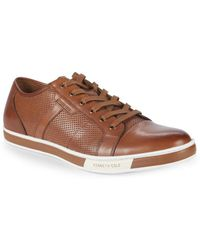 Kenneth Cole - Brand Leather Low-top Trainers - Lyst