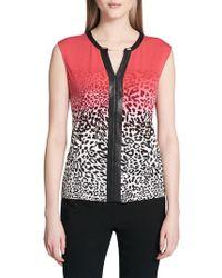 Calvin Klein - Ombre Cheetah-print Top - Lyst