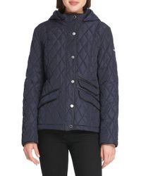 Donna Karan - Quilted Hooded Slim-fit Jacket - Lyst