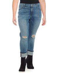 NYDJ - Plus Marilyn Distressed Jeans - Lyst