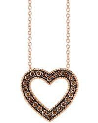 Le Vian - Chocolatier Strawberry Gold Heart Pendant Necklace - Lyst