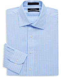 Saks Fifth Avenue | Two Toned Cotton Stripe Dress Shirt | Lyst