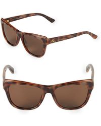 2f06354fa3d Gucci 53mm Square Clubmaster Sunglasses in Brown - Lyst