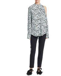 Proenza Schouler - Floral Button-front Blouse - Lyst