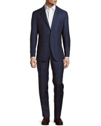 Saks Fifth Avenue - Modern Fit Solid Wool Suit - Lyst