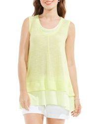 Vince Camuto - Double Layered Knit Tank - Lyst