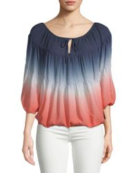Young Fabulous & Broke - Ombre Puffed-sleeve Top - Lyst