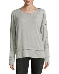 Saks Fifth Avenue - Buttoned Crewneck Sweater - Lyst