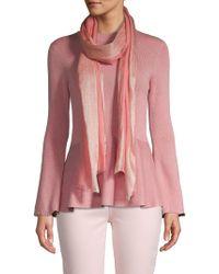Portolano Glitter Wool Scarf - Pink