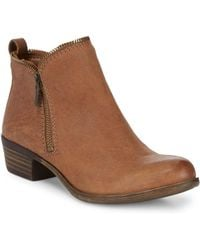 Lucky Brand - Classic Leather Booties - Lyst
