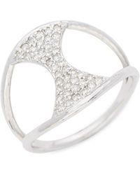 Gurhan - Tuxedo 18k White Gold Pavé Diamond Ring - Lyst