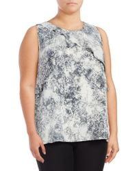 Vince Camuto - Plus Speckled Sleeveless Blouse - Lyst