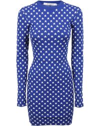 Givenchy - Star Print Fitted Mini Dress - Lyst