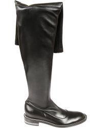 93504f227aac Lyst - Givenchy High Stretch-leather Square-heel Boots in Black