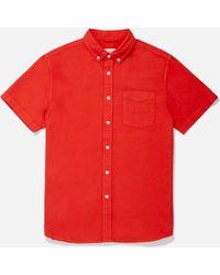 Saturdays NYC - Esquina Oxford Short Sleeve Shirt - Lyst