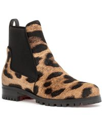 f9ddae004c60 Christian Louboutin - Marchacroche Leopard Boots - Lyst
