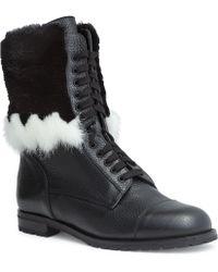 Manolo Blahnik - Campcha 20 Black Mink Boots - Lyst
