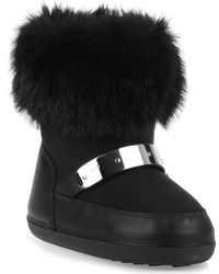 Giuseppe Zanotti - Black Faux Fur Snow Boot Us - Lyst