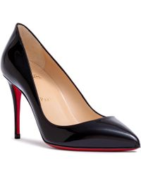louboutin pigalle black patent 85