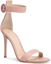 Gianvito Rossi - Portofino 105 Dusty Pink Leather Sandals - Lyst