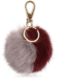 Ferragamo - Burgundy Multi-colour Pom-pom - Lyst