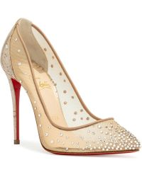 Christian Louboutin - Follies Strass Court Shoes - Lyst