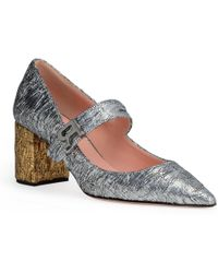 Rochas - Silver Brocade 60 Pointed Pumps - Lyst
