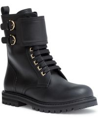 Ferragamo - Leather Ankle Boots - Lyst