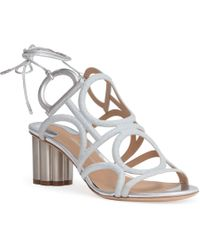 Ferragamo - Flower Heel Gancini Sandals - Lyst