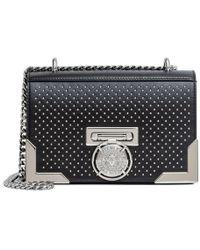 Balmain - Bbox 20 Black Studded Shoulder Bag - Lyst